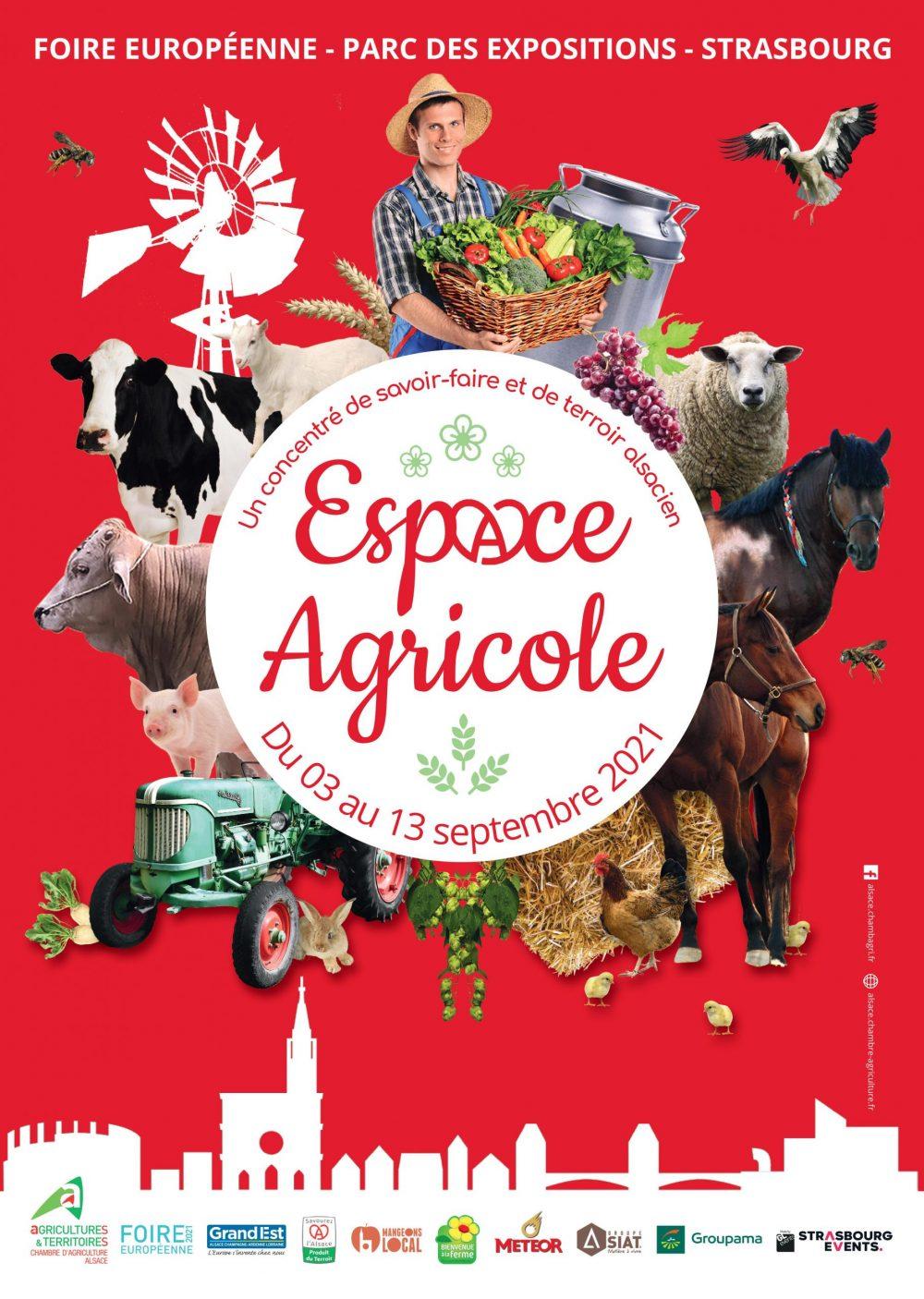 Affiche Foire européenne Espace agricole 2021